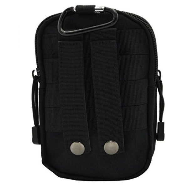 8BEES Tactical Pouch 1 Tactical Molle Pouch Multi-Purpose EDC Utility Gadget Belt Waist Bag for Cell Phone Camping Hiking Black