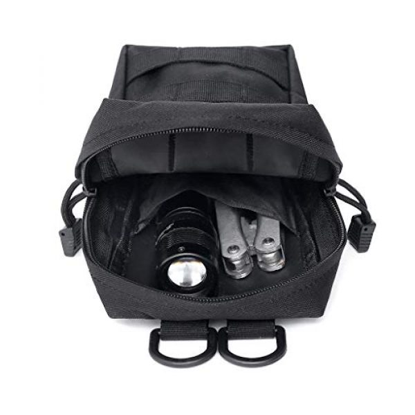 ASCOCO Tactical Pouch 6 ASCOCO Packs Tactical EDC Molle Pouch Tactical Waist Compact Organizer Gadget Gear Outdoor Pouch