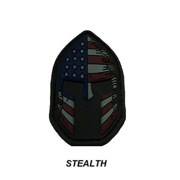 Active Duty Gear Airsoft Morale Patch 3 Spartan Helmet (Molon Labe) 3D PVC Rubber USA Flag Morale Patch, Represent American Pride, Perfect for Tactical Operator Caps, Hats, Jackets, Bags, Packs and Military Apparel (Full Color)