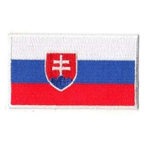 Embroidery Patch Airsoft Morale Patch 1 Slovakia Flag Patch Military Hook Loop Tactics Morale Embroidered Patch