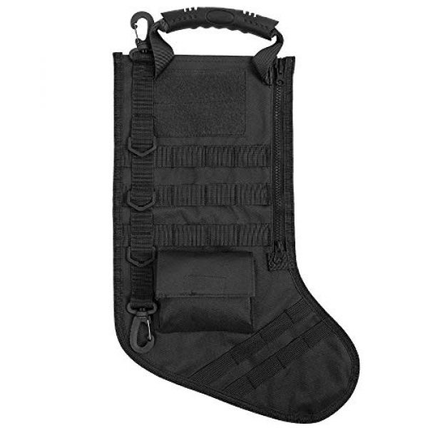 AIRSOFTPEAK Tactical Pouch 1 AIRSOFTPEAK Tactical Christmas Stocking Bag Design, Christmas Decoration Gift, Military with Molle Gear Webbing for Outdoor Hunting Shooting
