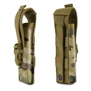 IronSeals Tactical Pouch 1 IronSeals Tactical Flashlight Pouch Holster Case Belt Pouch, Molle EDC Organizer Pouch EMT Mini Scissor Tool Pouch
