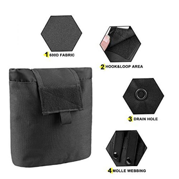 AMYIPO Tactical Pouch 3 AMYIPO Folding Tactical Molle Drawstring Magazine Dump Pouch, Military Adjustable Belt Utility Hip Holster Bag Outdoor Mag Pouch