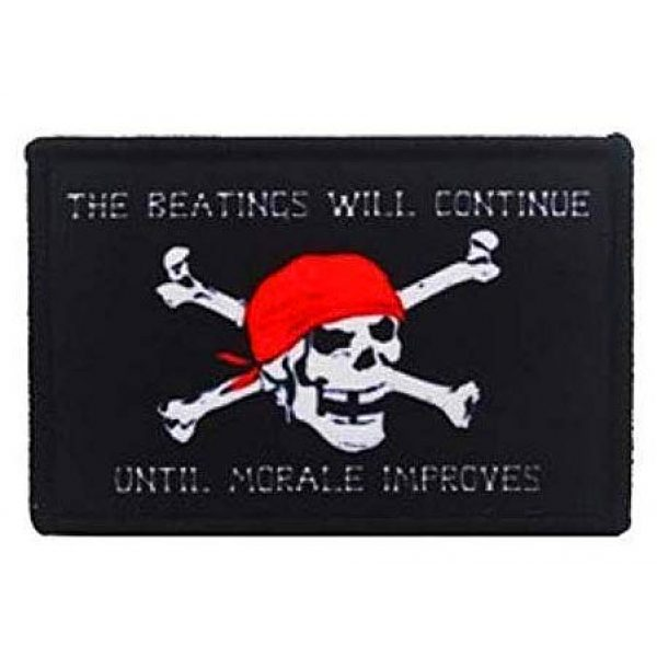 Fine Print Patch Airsoft Morale Patch 1 Jolly Roger Pirate Skull Military Hook Loop Tactics Morale Printed Patch