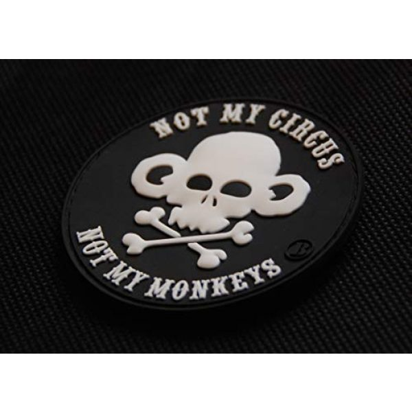 BritKitUSA Airsoft Morale Patch 2 BritKitUSA Not My Circus Not My Monkeys 3D PVC Morale Patch Hook Backing