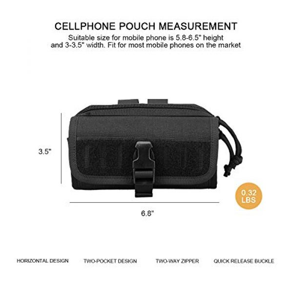 AMYIPO Tactical Pouch 2 AMYIPO Cell Phone Pouch Tactical Smartphone Pouch EDC Utility Gadget Waist Bag Pack