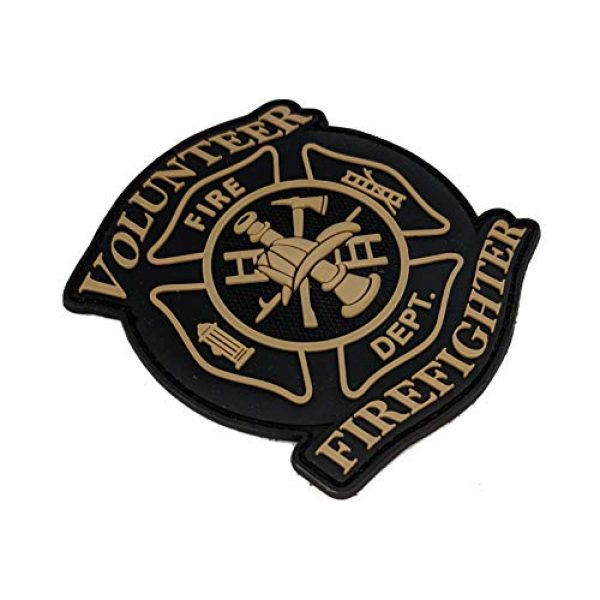 """Tactical Innovations Canada Airsoft Morale Patch 2 Tactical Innovations Canada PVC Morale Patch - Volunteer Firefighter 3""""x3"""""""