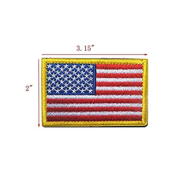 GrayCell Airsoft Morale Patch 2 GrayCell US Flag Dog Embroidered Tactical Morale Patch for Dog Harness & Vest- Set of 2 (US Flag)