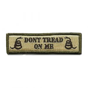GreatPlus Airsoft Morale Patch 1 Don't Tread On Me Patch Embroidered Military Tactical Morale Patches