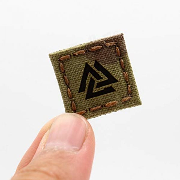 Tactical Freaky Airsoft Morale Patch 1 IR Multicam 1x1 Valknut Cat Eye Patch Viking Norse Heathen Odin Morale Tactical