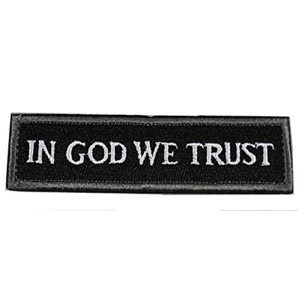 Horizon Airsoft Morale Patch 2 Horizon In GOD We Trust - Tactical Morale Patch - Black