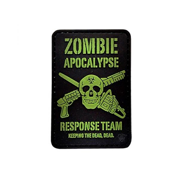 5ive Star Gear Airsoft Morale Patch 1 5ive Star Gear Zombie Apocalypse Morale Patches, Multi-Color, One Size
