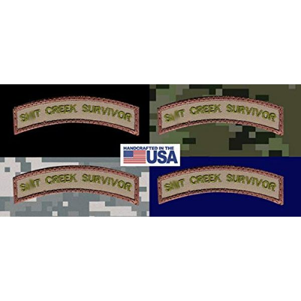 Tactical Patch Works Airsoft Morale Patch 3 Sh-t Creek Survivor Rocker Patch