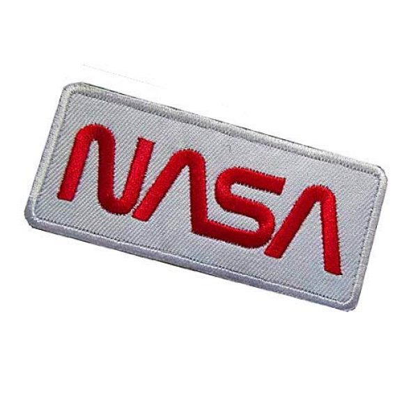 """Embroidery Patch Airsoft Morale Patch 3 NASA Worm"""" Logo Military Hook Loop Tactics Morale Embroidered Patch (color3)"""