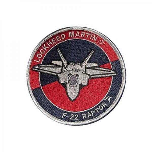 Embroidery Patch Airsoft Morale Patch 2 Lockheed F-22 Raptor Stealth Fighter Military Hook Loop Tactics Morale Embroidered Patch