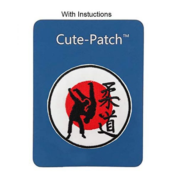 """Cute-Patch Airsoft Morale Patch 3 3"""" Judo Symbol Embroidered Iron on sew on Patch Martial Arts Accessories Applique"""