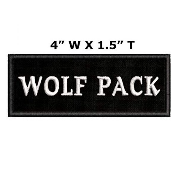 Appalachian Spirit Airsoft Morale Patch 2 Wolf Pack Tactical Saying Morale Military Tag Embroidered Premium Patch DIY Iron-on or Sew-on Decorative Badge Emblem Gear Clothes Appliques