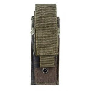 AccessoryHappy Tactical Pouch 1 AccessoryHappy Premium Outdoor Hunting Tactical Vertical Belt Holster Pouch Fully Compatible MOLE System fits Single Pistol Magazine, Knife, Flashlight, Multi-Tool Much More