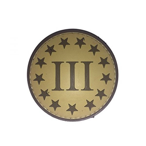 DDT VETERAN OWNED AND OPERATED Airsoft Morale Patch 1 DDT III% PVC Morale Patch