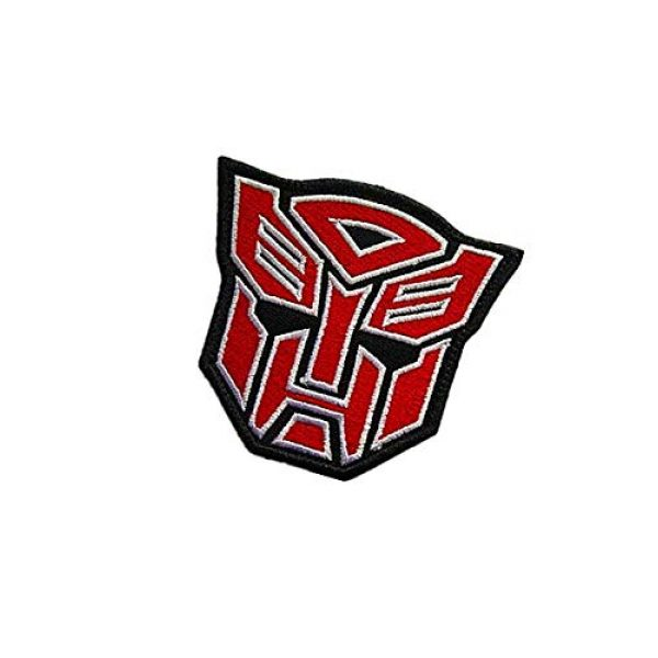 Embroidery Patch Airsoft Morale Patch 3 Superhero Transformers Autobot Military Hook Loop Tactics Morale Embroidered Patch (color1)