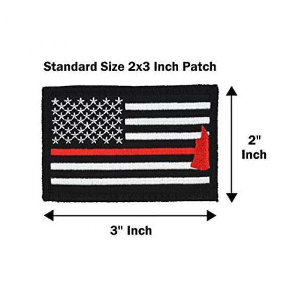Great 1 Airsoft Morale Patch 4 American Flag Patch 4-Pack Set, 2x3 inch, Embroidered, Hook and Loop, Military and Tactical Accessory for Clothing-Jackets-Hats-Backpacks (Thin Red Line)