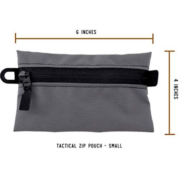 Battle Board Tactical Pouch 4 Battle Board Tactical Zip Pouch - Wolf Grey Accessory Pouch
