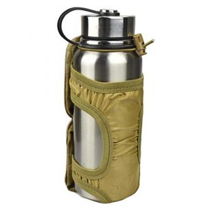 JFFCE Tactical Pouch 1 JFFCE MOLLE Tactical Water Bottle Pouch Outdoor Sport Kettle Carrier Holder Foldable Design Kettle Pouch Belt Bottle Carrier with Metal Clip