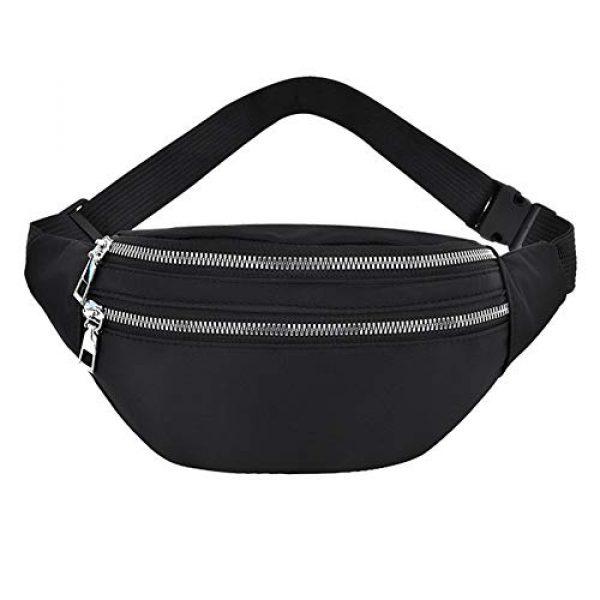 GEZICHTA Tactical Pouch 1 GEZICHTA Bum Bag Waist Fanny Pack for Men Women Unisex Bumbag Oxford Cloth Waist Bag Adjustable for Outdoor Sports Workout Hiking