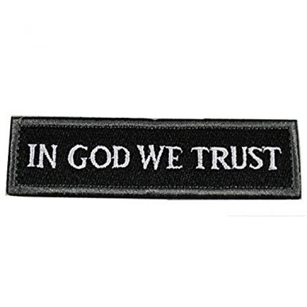 Horizon Airsoft Morale Patch 3 Horizon In GOD We Trust - Tactical Morale Patch - Black