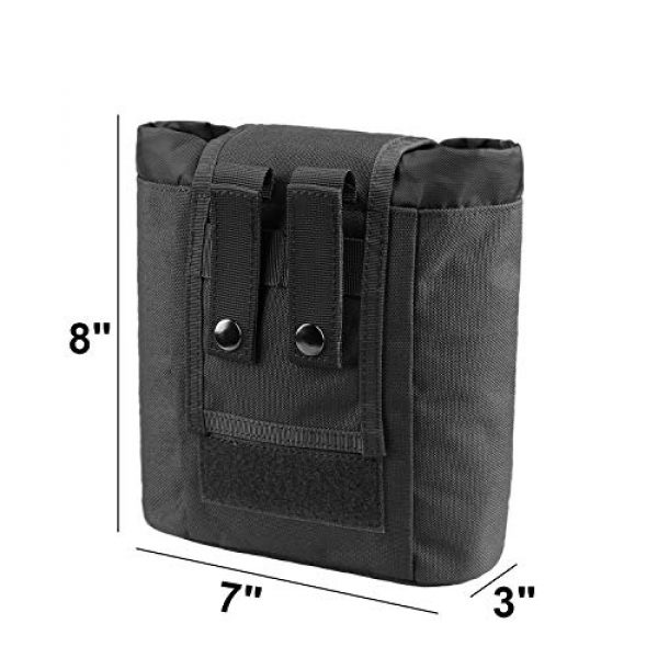 AMYIPO Tactical Pouch 2 AMYIPO Folding Tactical Molle Drawstring Magazine Dump Pouch, Military Adjustable Belt Utility Hip Holster Bag Outdoor Mag Pouch