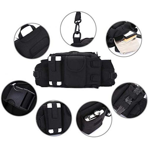 ANTARCTICA Tactical Pouch 7 ANTARCTICA 1050D Military Tactical Waist Pack Bag Fanny Pack Sling Bag Range Bag EDC Camera Bag with Shoulder Strap for Outdoor,Sports,Jogging,Walking,Hiking,Cycling