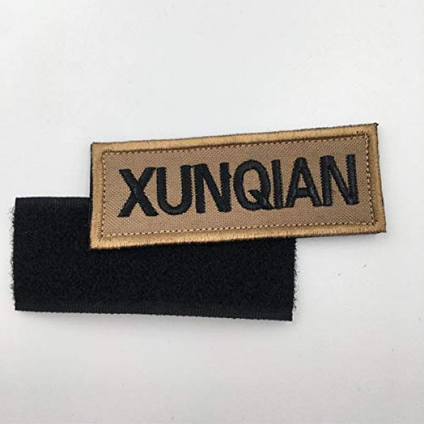 XUNQIAN Airsoft Morale Patch 4 XUNQIAN American Dog Tracker Paw Embroidered Applique Morale Hook & Loop Patch