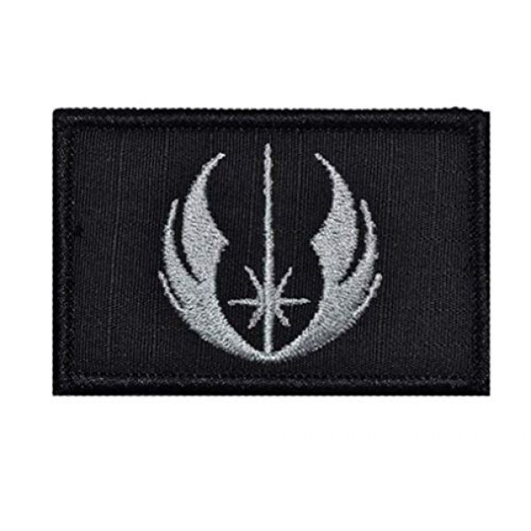 Zhikang68 Airsoft Morale Patch 1 Star War Embroidered Patches Rebel Scum and Jedi Order Emblem Morale Military Hook & Loop Tactical Patches (Gray)