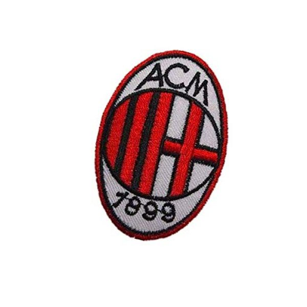 Embroidery Patch Airsoft Morale Patch 3 Italy AC Milan Soccer Football Team Military Hook Loop Tactics Morale Embroidered Patch
