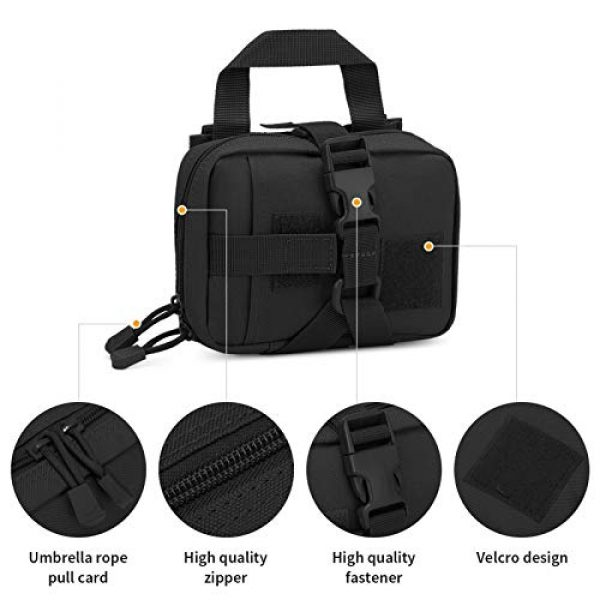 BAIGIO Tactical Pouch 6 Small Tactical Pouch MOLLE System First Aid Kit Bag IFAK Medical Utility Bag Pocket for Home Workplace Outdoor