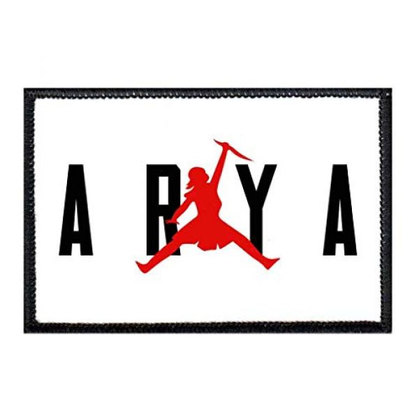 P PULLPATCH Airsoft Morale Patch 1 Arya Red with White Background Morale Patch | Hook and Loop Attach for Hats, Jeans, Vest, Coat | 2x3 in | by Pull Patch