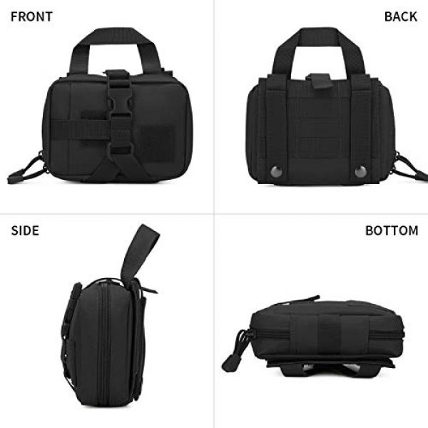 BAIGIO Tactical Pouch 3 Small Tactical Pouch MOLLE System First Aid Kit Bag IFAK Medical Utility Bag Pocket for Home Workplace Outdoor