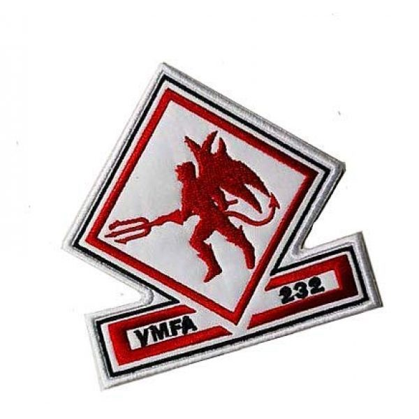 Embroidery Patch Airsoft Morale Patch 2 US VMFA-232 Red Devils Attack Squadron Military Hook Loop Tactics Morale Embroidered Patch