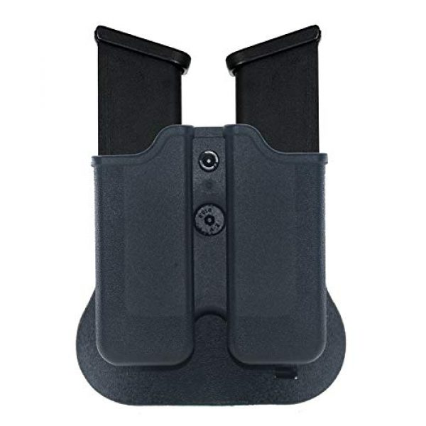 Backyard Blasters Tactical Pouch 2 Backyard Blasters Double Magazine Holster, Magazine Pouch fits for SIGP226 and P229, 9mm .40 Double Stack Mag with Adjustable Paddle