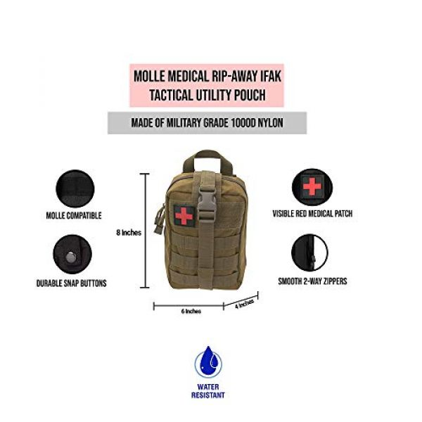 ASATechmed Tactical Pouch 6 ASATechmed Tactical Military MOLLE EMT First Aid IFAK Utility Medical Pouch Plus Free Matching Color EMT Shears Ideal Gift for First Responder, EMT, Paramedics, Soldiers, Police and Many More