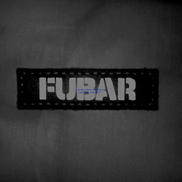 Tactical Freaky Airsoft Morale Patch 4 Fubar 1x3.5 Multicam Infrared Name Tape Tab Callsign IFF Morale Hook-and-Loop Patch