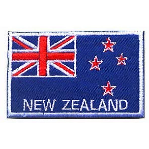 Embroidery Patch Airsoft Morale Patch 1 New Zealand Flag Patch Military Hook Loop Tactics Morale Embroidered Patch