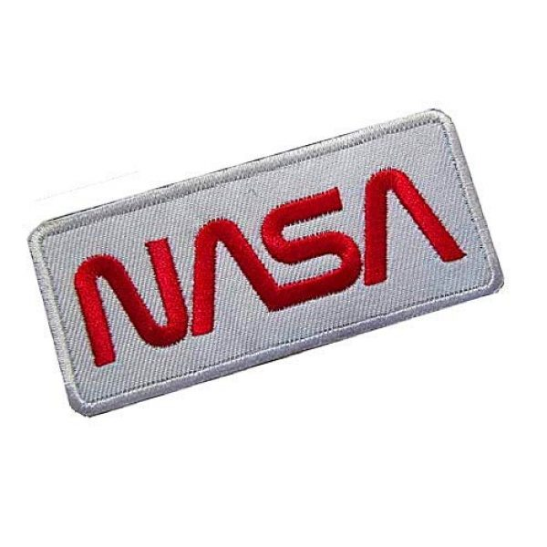 """Embroidery Patch Airsoft Morale Patch 2 NASA Worm"""" Logo Military Hook Loop Tactics Morale Embroidered Patch (color3)"""