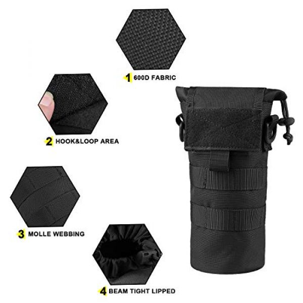 AMYIPO Tactical Pouch 3 AMYIPO Folding Water Bottle Pouch Molle Tactical Holder Storage Bag for 32oz Carrier