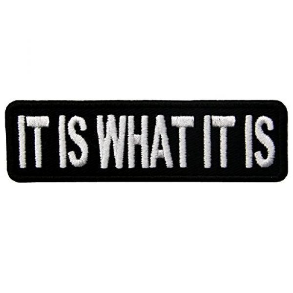 EmbTao Airsoft Morale Patch 1 EmbTao It is What It is Funny Biker Embroidered Iron On Sew On Patch