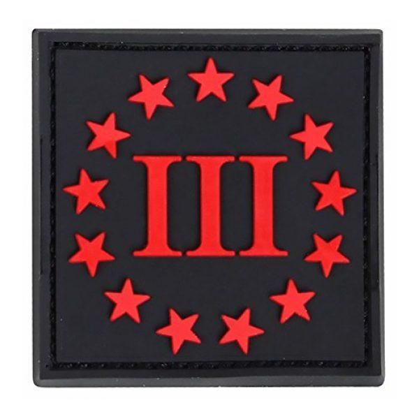 Condor Airsoft Morale Patch 1 CONDOR PVC 3-Percenter Morale Patch (Black/Red)