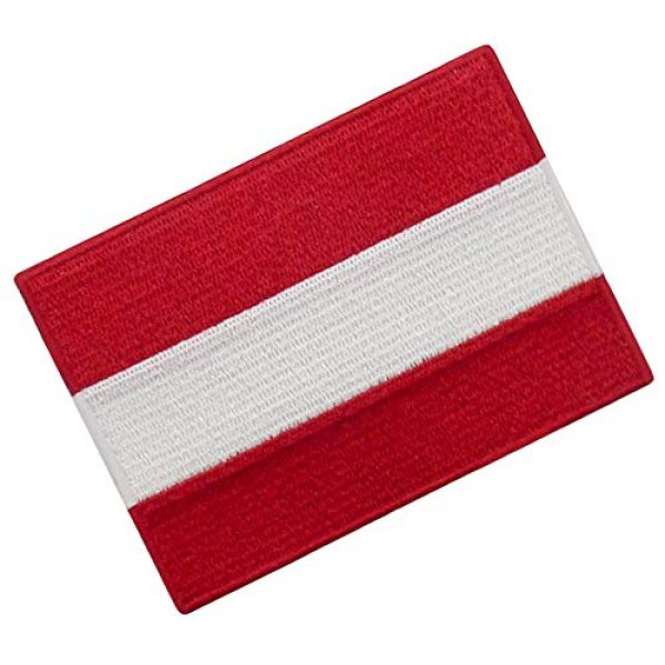 EmbTao Airsoft Morale Patch 3 Austria Flag Patch Embroidered Applique Iron On Sew On Austrian National Emblem