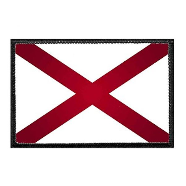P PULLPATCH Airsoft Morale Patch 1 Alabama State Flag - Color Morale Patch | Hook and Loop Attach for Hats, Jeans, Vest, Coat | 2x3 in | by Pull Patch