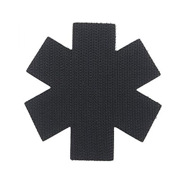 """Tactical Innovations Canada Airsoft Morale Patch 3 PVC Morale Patch - EMS - Medical Responder 3"""" Star of Life - Blk & ODG - Single Snake"""
