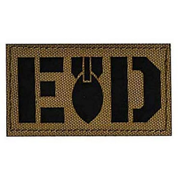 Embroidery Patch Airsoft Morale Patch 2 2 Pieces E O D Explosive Ordnance Disposal Flag Bomb Squad Infrared Reflective Military Hook Loop Tactics Morale Patch (color10)